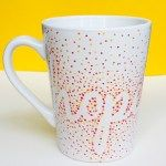 DIY Dotted Sharpie Mugs Using Dollar Store Mugs