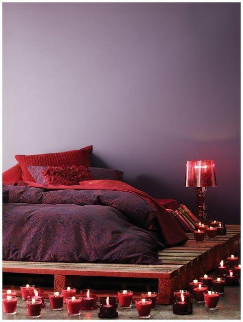 Pallet platform bed.