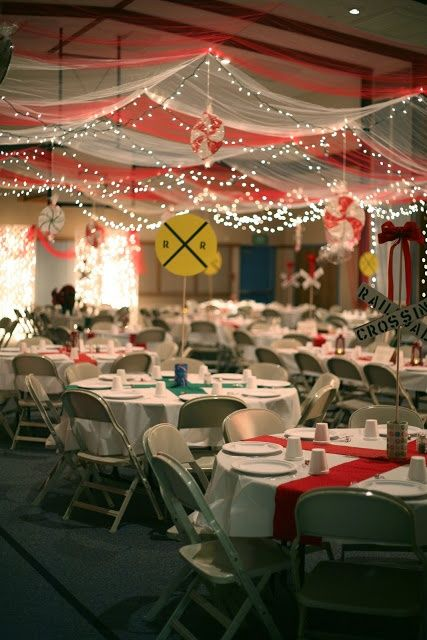126 best images about cultural hall decor on pinterest for Christmas hall decorations
