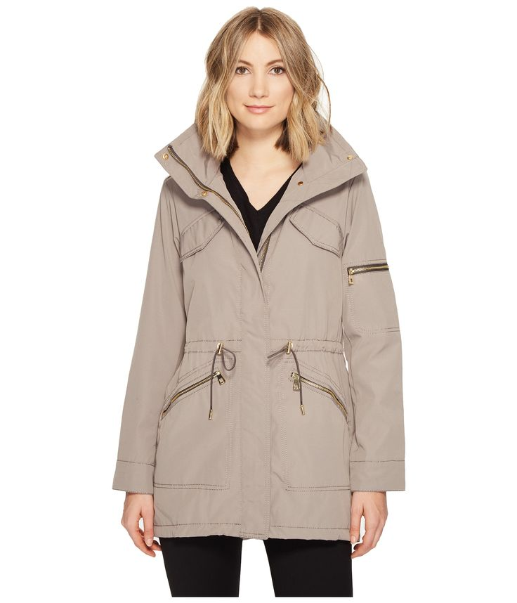 Vince Camuto Lightweight Parka with Drawstring Waist and Hem