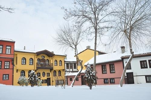 (architectural examples of old Turkish houses) Odunpazari Eskisehir Turkey