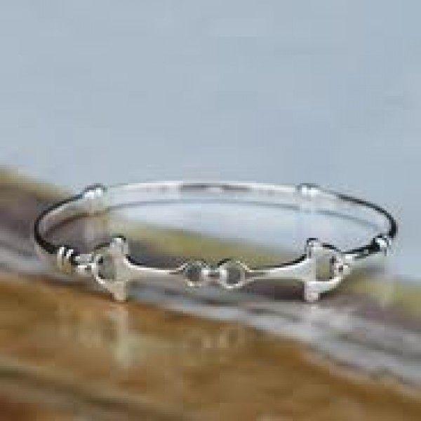 Sterling Silver - Snaffle Bit Bracelet - Horse Gifts NZ