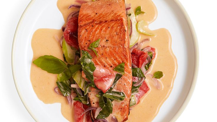 Salmon with Spicy Coconut Sauce Recipe