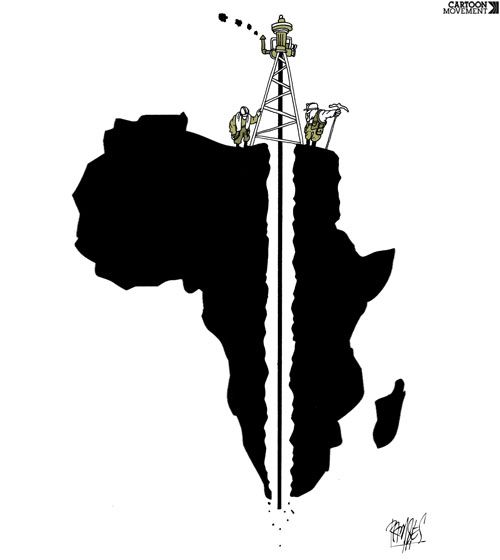 Today's cartoon, by Ramses Morales Izquierdo, is about the African resource curse.