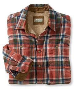 Llbean bean 39 s sherpa lined jac shirt plaid giftideas for Sherpa lined plaid shirt