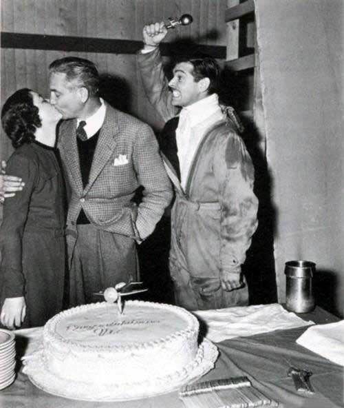 Myrna Loy, Victor Fleming and Clark Gable | Rare and beautiful celebrity photos
