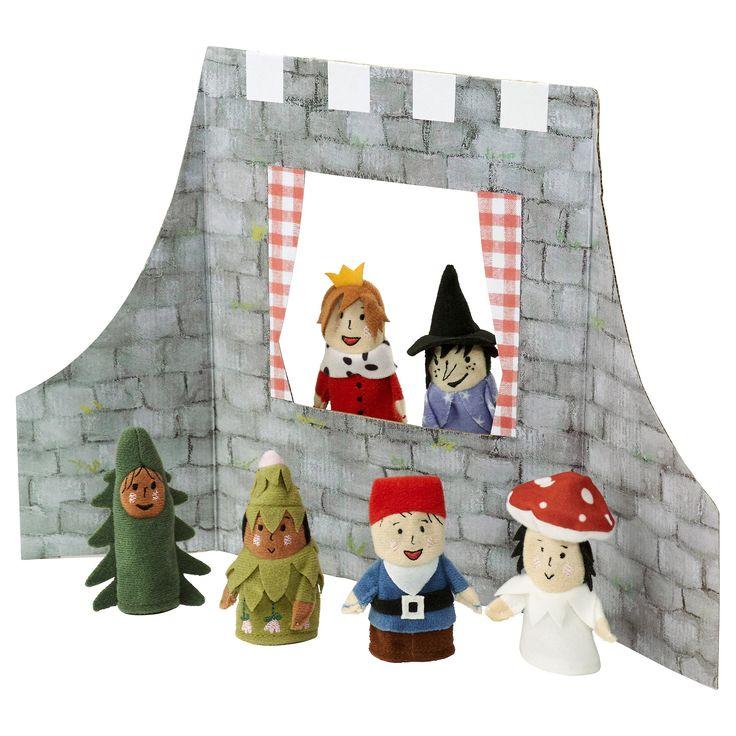 JÄTTELITEN 7-pc finger puppets & accessories - IKEA
