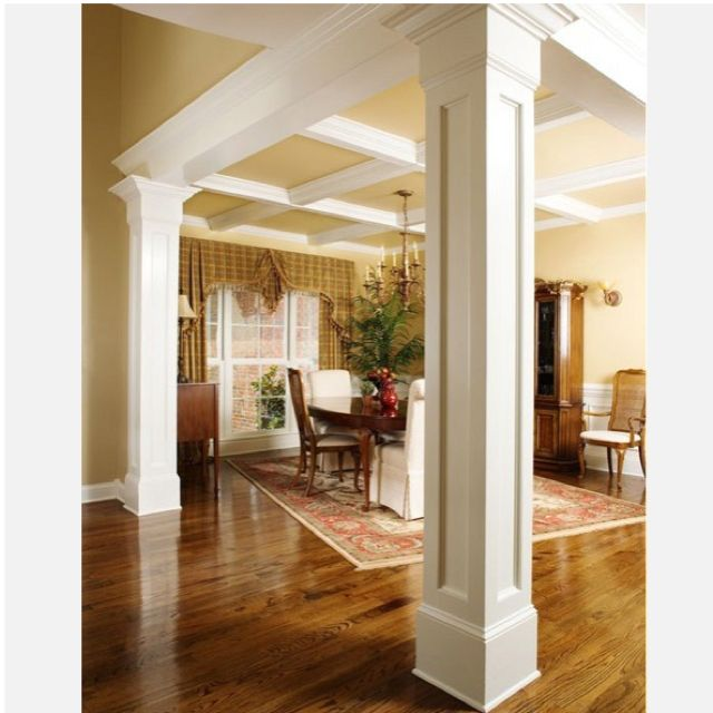 Square recessed mdf column wraps check out our great for Dining room designs with pillars