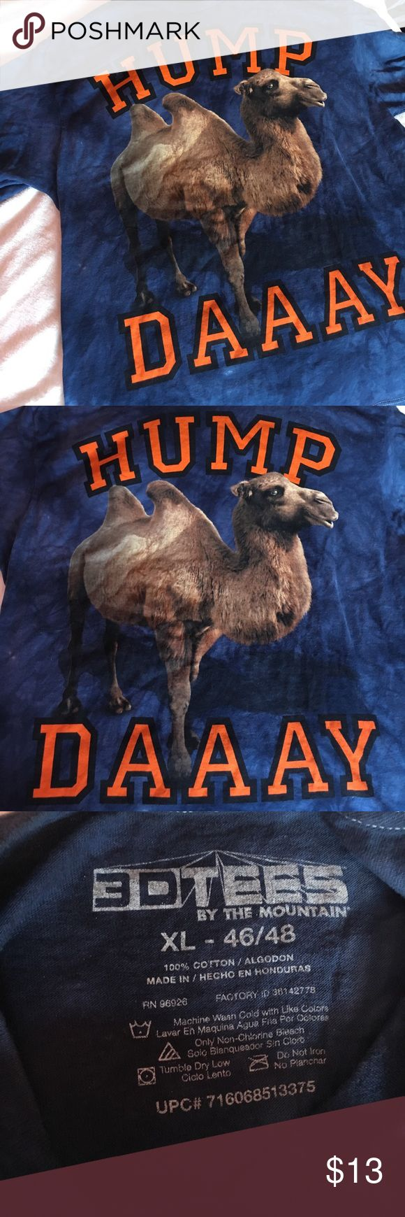 Tie Dye Hump Day Shirt Funny Wednesday Hump Day Camel Shirt, Great condition, no stains or rips, worn once and basically new Shirts Tees - Short Sleeve