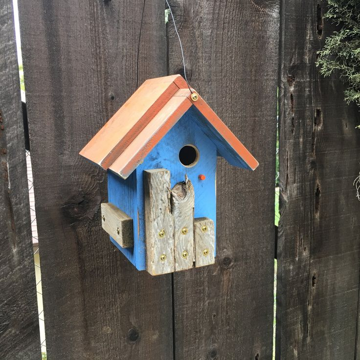 Unique Birdhouses Outdoor Rustic Wooden Bird House Whimsical Hand Painted Functional Birdhouse, Bird Houses For Sale, Item #501448196 by BirdhousesByMichele on Etsy