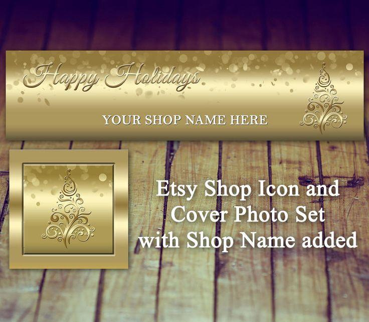 Etsy Shop Icon - Etsy Cover Photo, Etsy Store Photo, Etsy Christmas Icon, Etsy Holiday Cover Photo, Christmas Shop Banner, Holiday Shop Icon by LittlePrintsOttawa on Etsy