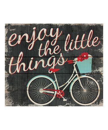 P. Graham Dunn - Loving this 'Enjoy the Little Things' Pallet Wall Art on #zulily! #zulilyfinds