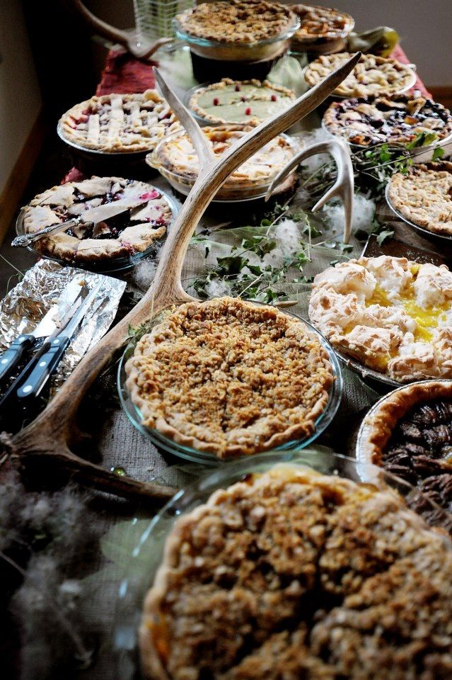 Rustic Pie Table Photo By Brenda Ahearn :Pie Shop #pie #shop #atlanta