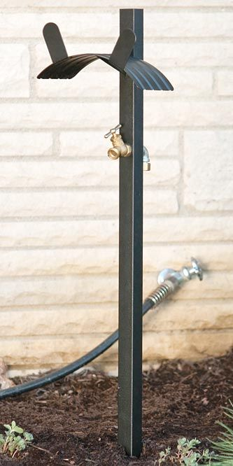 Panacea Basic Hose Stand With Brass Spigot Black At