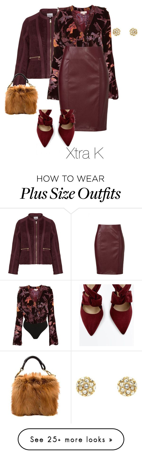 """Plus Lux"" by xtrak on Polyvore featuring Zizzi, Topshop, Christian Dior and Finesse"