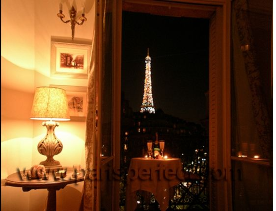 Balcony + View of the Eiffel Tower / Bucket List / Travel / Paris