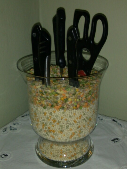 Kitchen Knife Holder Vase From Tjmax Use Dried Beans Couscous Rice Or