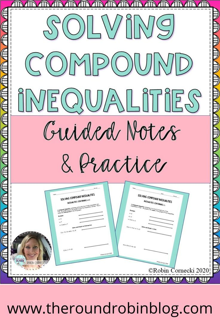 Solving Compound Inequalities Guided Notes and Practice