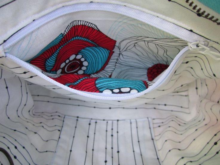 """Tuto """"Poche intérieure zippée"""" pour une finition impeccable à l'intérieur et à l'extérieur"""