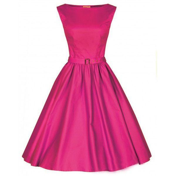 Choies Pink Vintage Sleeveless Midi Dress ($30) ❤ liked on Polyvore featuring dresses, pink, vintage midi dress, pink day dress, pink dress, calf length dresses and mid calf dresses