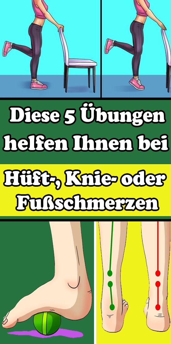 These 5 exercises help you with hip, knee or foot pain – Gesundheit und fitness