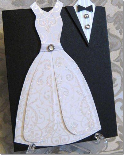 Скрапбукинг - Несколько симпатичных скрап-шаблонов - свадебное платье и комбинезончик