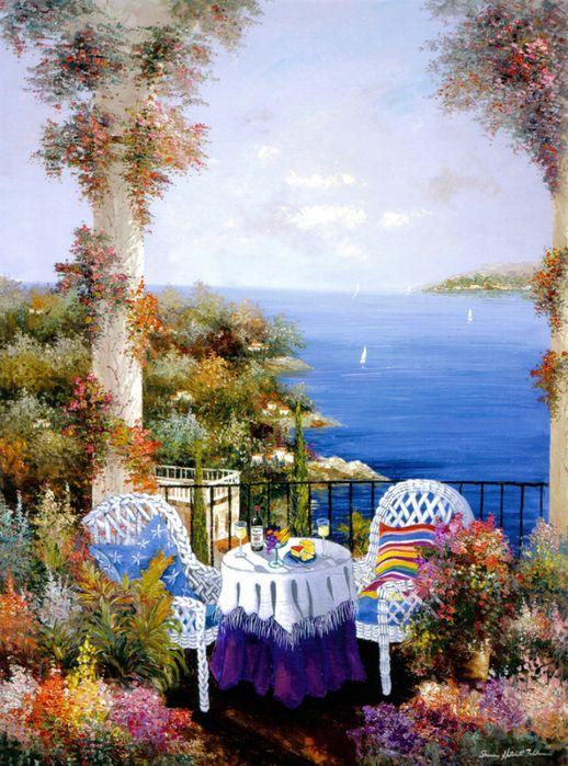 ART~ View Of The Mediterranean~ Sharie Hatchett Bohlmann