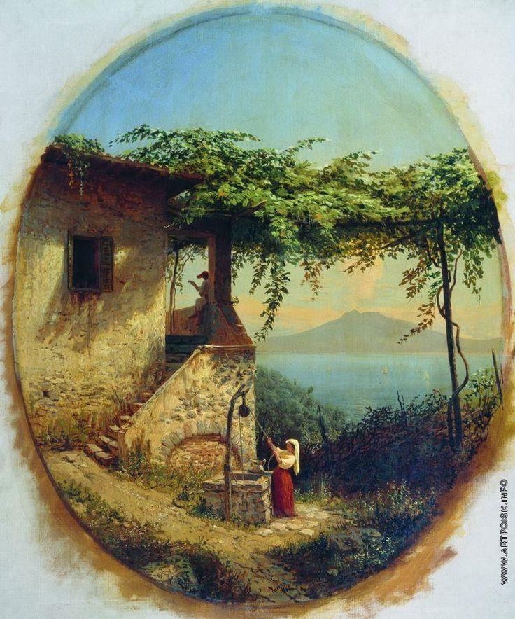 Lev Lagorio - View from Ischia to Vesuvius (1860)