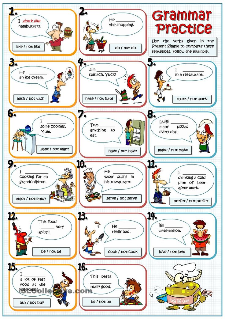PRESENT SIMPLE AND FOOD worksheet. ESL worksheet of the day by rmartinandres. April 10, 2015