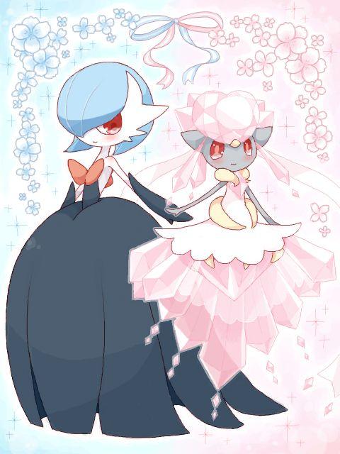 Ishi, Pokémon, Gardevoir, Diancie, Looking Ahead, Pink Flower
