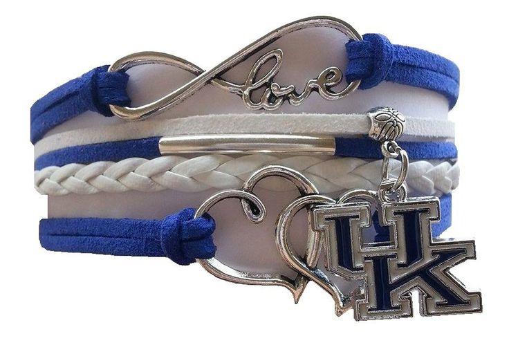 University of Kentucky Wildcats College Infinity Braided Leather Bracelet - NEW #BrogansHeroes #KentuckyWildcats