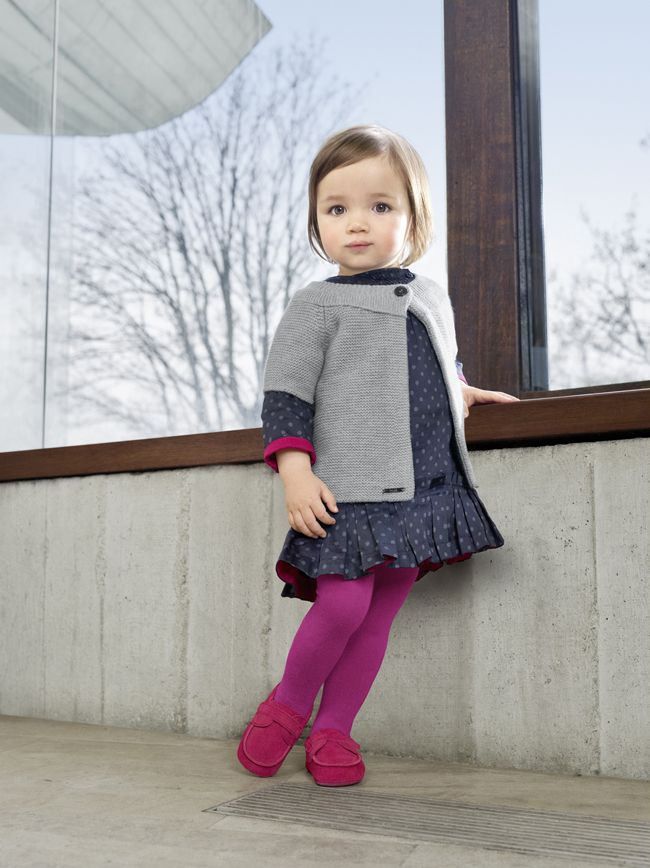 Ideas for fall layering toddler girl clothing.  Colored tights.