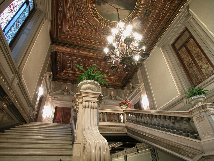 (1675) Palazzo Cisterna - L'escalier monumental
