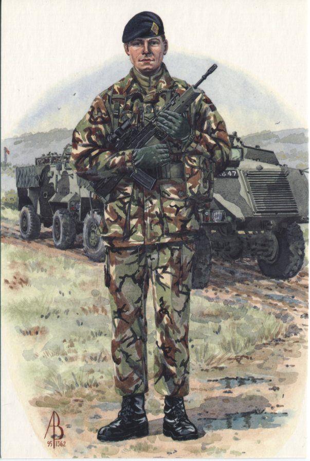 Alix Baker Postcard - AB24/8 Corporal, 1st Battalion, Queens Lancashire Regiment, ... Yugoslavia 1996