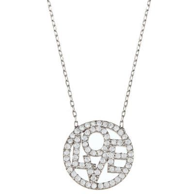 Stunningly Gorgeous Sterling Silver Disc Pendant Necklace