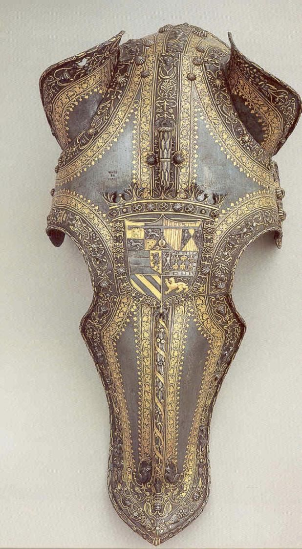 Horse Armour Headpiece of Felipe II of Spain. Royal Palace, Madrid.