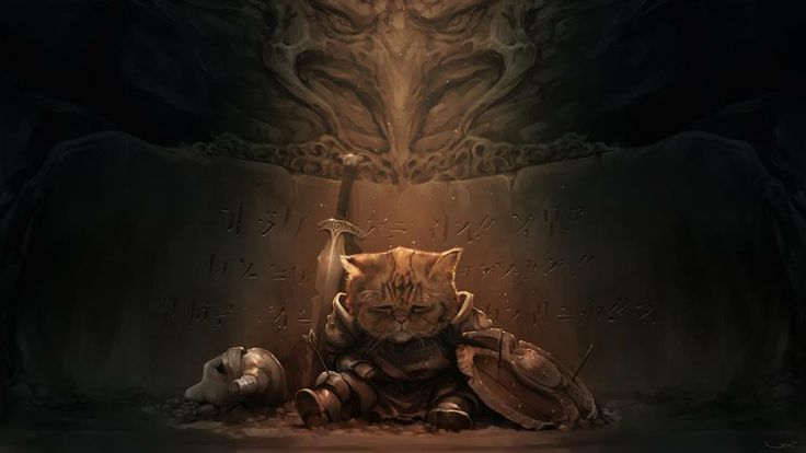 ARTIST OF THE DAY: Darren Lim Geers, USA, http://darrengeers.deviantart.com/ A cat warrior? We're sold! How about you? #fantasy #cats #art