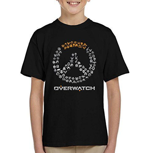 From 12.95 Overwatch Logo Character Heads Kid's T-shirt