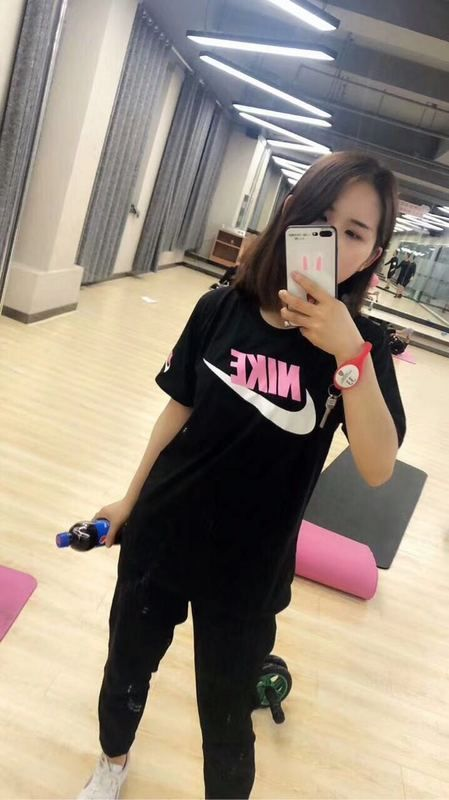 998bb9e62428 Spring Summer 2018 Where To Buy Nike loves Pure cotton Short Sleeve T-Shirt  Black Fashion Trend M--4XL 696709 Black White