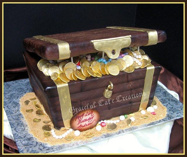Treasure chest cake idea
