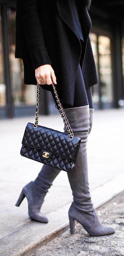#fall #fashion / knee length boots