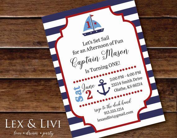 The 25 best Nautical birthday invitations ideas on Pinterest