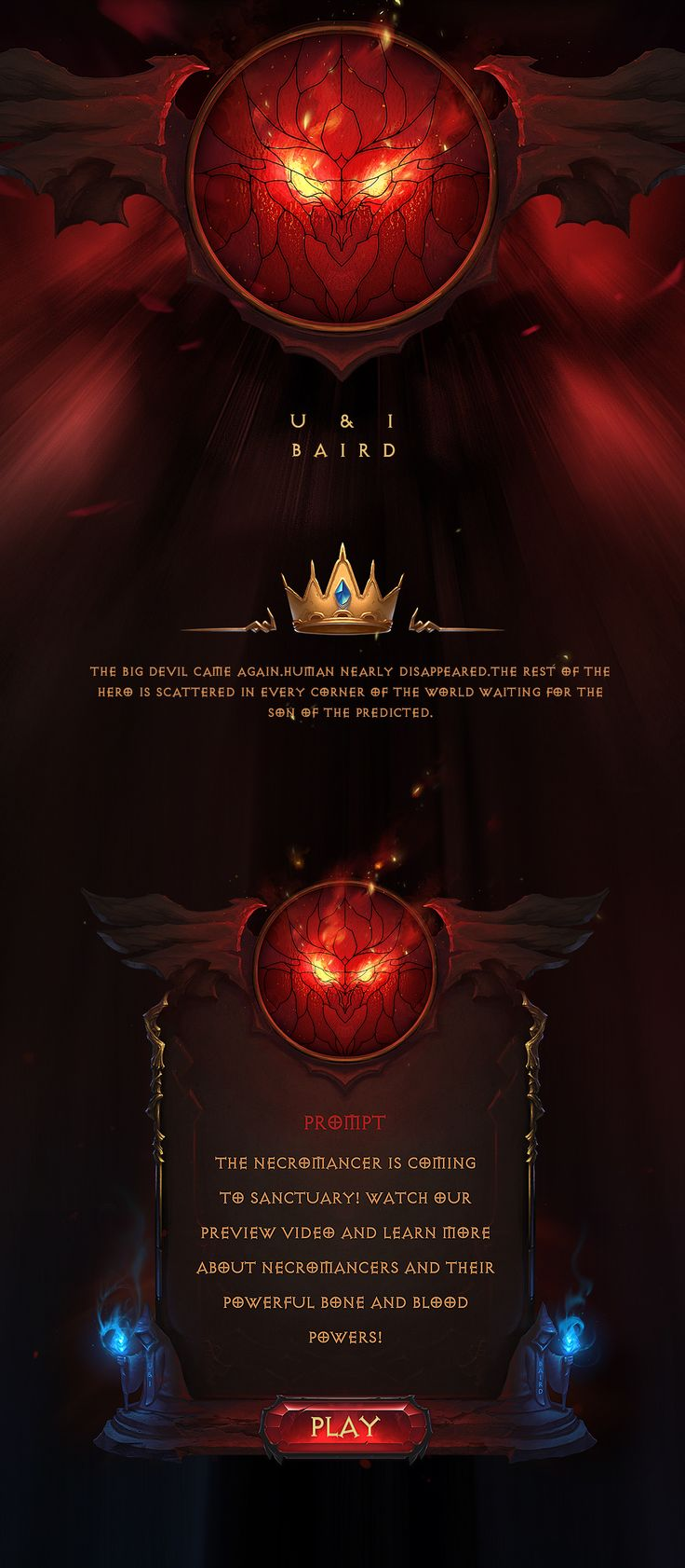 Poster design game - Diablo Style Game Ui On Behance