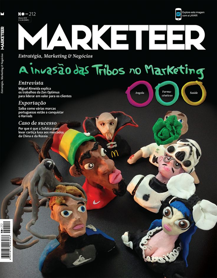[Portuguese content] Certified Layar Partner #CreativeLink augmented the cover page of #Marketeer March issue with @Layar. Marketeer is a monthly publication specializing in marketing. Scan with Layar to see the cover come alive.