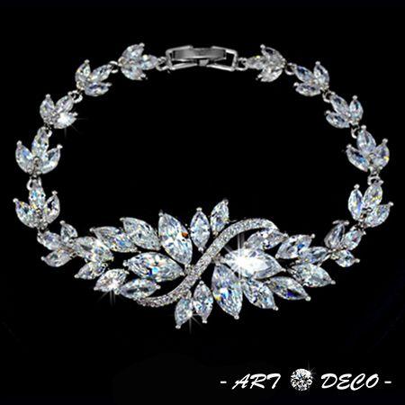 Trendy Design Marquise Brilliant Cut AAA+ Swiss CZ Cubic Zirconia Flower Bracelets & Bangles Women Fashion Jewelry Accessories