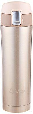 5. LifeSky Stainless Steel Travel Coffee Mug (Champagne)