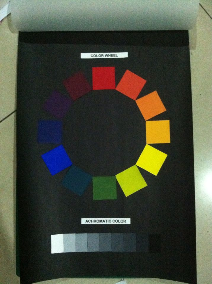 Color wheel and achromatic color