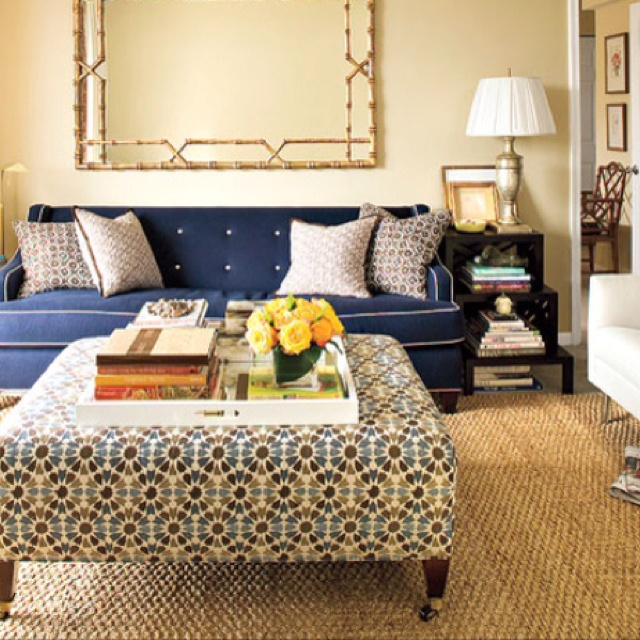 Perfect Example Of How Our New Living Room Will Be. Upholstered Ottoman  With Tray,. Ottoman TrayOttoman Coffee TablesFabric ...