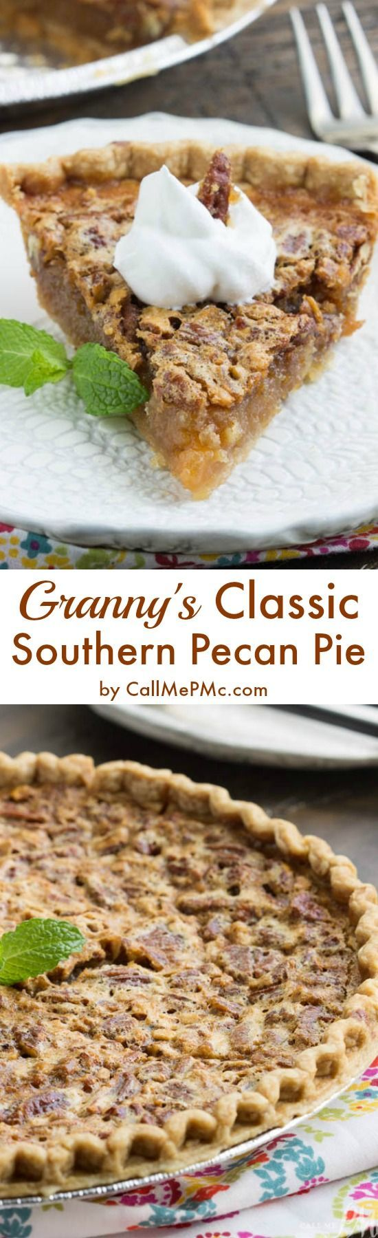 Granny's Classic Southern Pecan Pie - def one you need to save & and have in your box! http://www.callmepmc.com/grannys-classic-southern-pecan-pie/?utm_campaign=coschedule&utm_source=pinterest&utm_medium=Paula%20%7C%20CallMePMc.com&utm_content=Granny%27s%20Classic%20Southern%20Pecan%20Pie