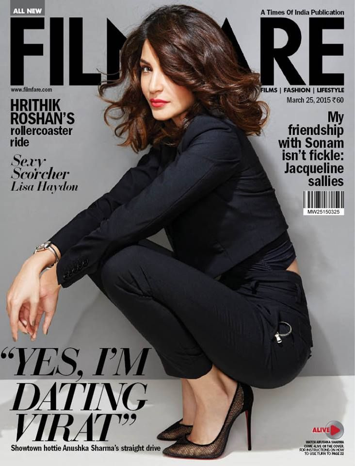 A fab actor & the newest producer in town...   The cool Anushka Sharma sizzles on our latest cover.   Like and share if you like it.